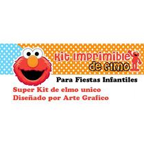 Kit Imprimible Motivo Elmo