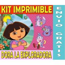 2x1 Dora La Exploradora Kit Imprimible Invitaciones + Regalo