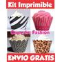 2x1 Cupcake Wrapper Kit Imprimible + Regalos