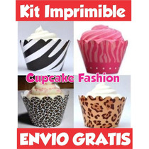 Kit Imprimible Cupcake Wrapper Llevás 2 Kits Paga 1+ Regalos