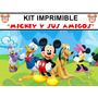 Mickey Mouse Kit Imprimible Invitaciones + Regalo