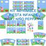 Kit Imprimible Peppa Pig. Fiesta Infantil - Niño O Niña-diy