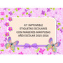 Kit Imprimible Etiquetas Escolares Con Mariposas
