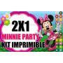Kit Imprimible Minnie Flores 2x1