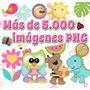Kit Imprimible Imagenes Png Invitaciones Scrapbook + Regalos