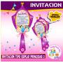 Princesas Tipo Espejo.. Invitaciones Y/o Recuerditos