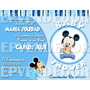 Tarjetas De Invitacion Baby Shower Minnie O Mickey