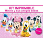 2x1 Minnie Bebe Kit Imprimible Invitaciones + Regalo