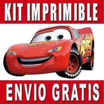 Cars 2 Kit Imprimible Invitaciones + Regalo