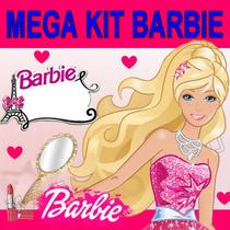 Kit Imprimible Barbie Cumpleaños Invitaciones Diseño Tarjeta