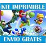 Kit Imprimible Mario Bros Llevás 2 Kits Paga 1+ Regalos