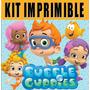 Bubble Guppies Kit Imprimible Invitaciones + Regalo