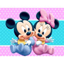 Kit Imprimible Minniey Mickey Bebe Tarjetas Cotillon Fiesta