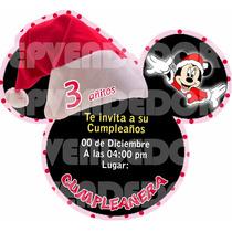Imagen De Invitacion Mickey Y Minnie Mouse Navidad