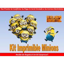 Kit Imprimible Los Minions De Mi Villano Favorito 2 Fiesta
