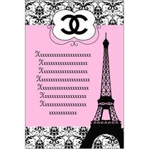 Kit Imprimible Channel Paris Tarjeta Invitaciones Cumpleanos