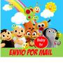 Kit Imprimible Baby Tv Jirafa Mariposa Candy Bar Banderines