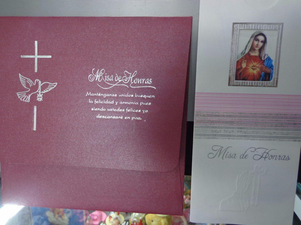 Tarjetas Para Misa Defunción Fiesta Patronal Mayordomia