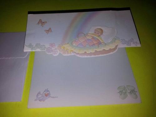 tarjetas para nacimiento de bebe 13cm x 9cm