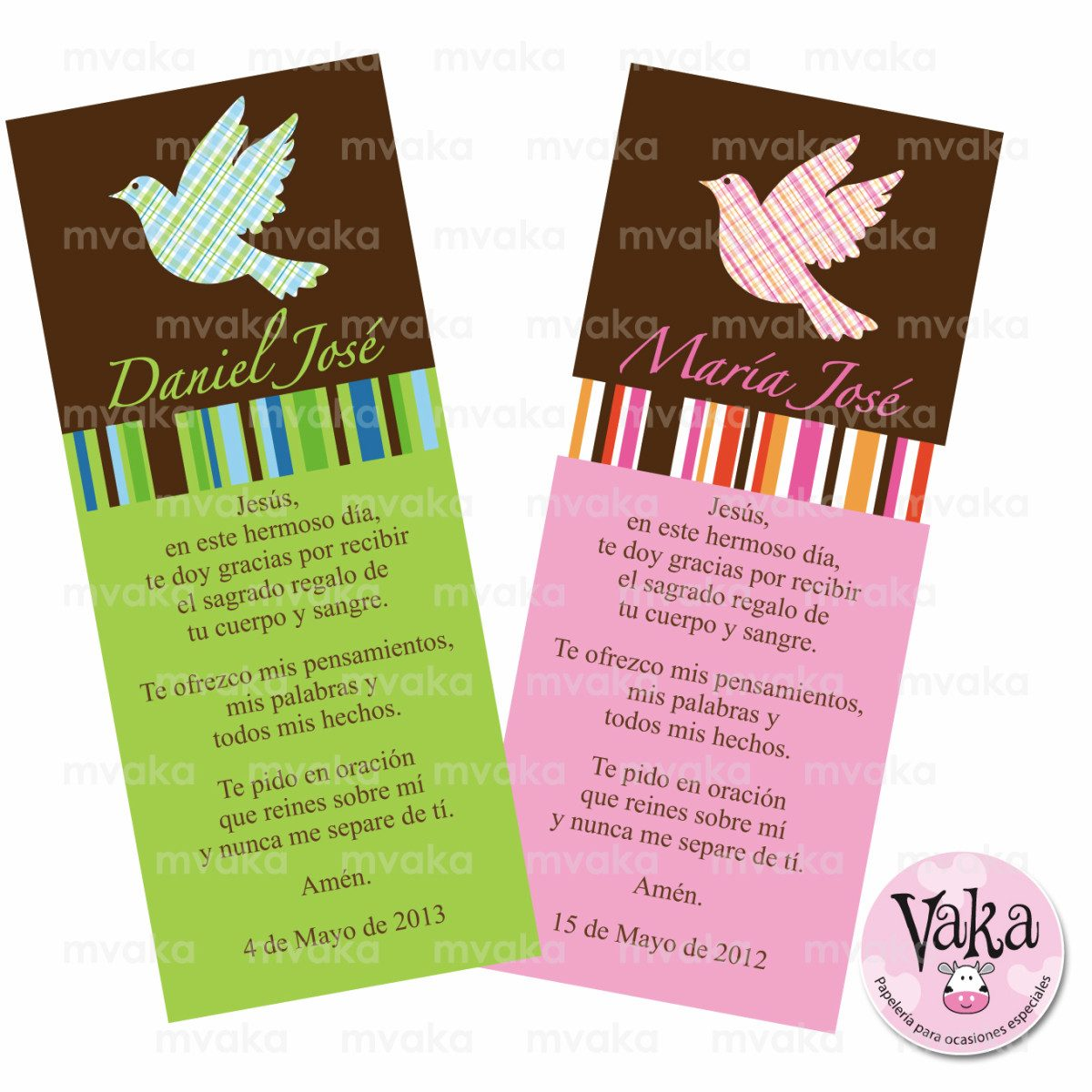 Tarjetas para recuerdos bautizos primera comuni n 15unid - Como hacer tarjetas para comunion ...