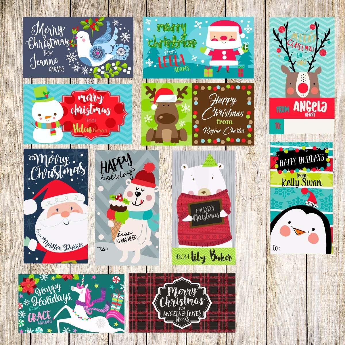 Tarjetas Para Regalos De Navidad Personalizadas 9000 En Mercado - Postales-para-navidad-personalizadas