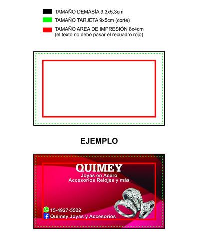 tarjetas personales a todo color 9x5cm en 300gr.
