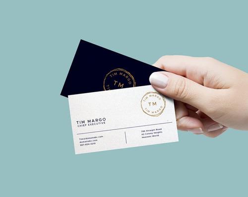 tarjetas personales + diseño gratis + 1 millar acabado mate