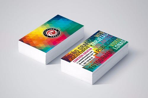 tarjetas personales full color - 100 x 300grs / zona norte