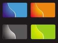 tarjetas personales laminadas en polipropileno mate f/color