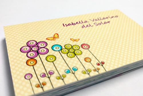 tarjetas personales para niños y niñas
