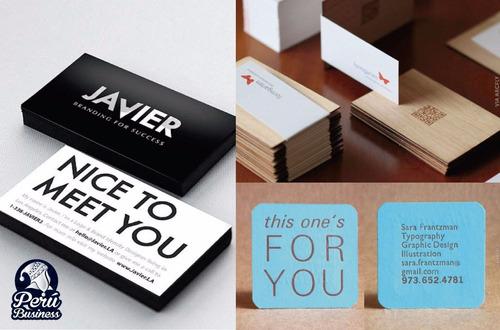 tarjetas personales / presentación - diseño gratis