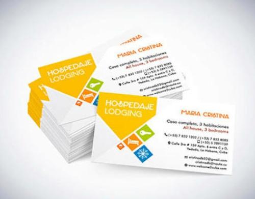 tarjetas  personales - presentación-  full color* delivery
