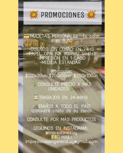 tarjetas personales promociones!!