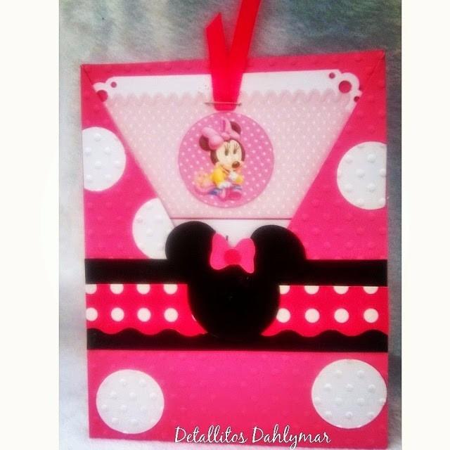 Tarjetas Personalizadas Invitacion Cumpleaños Minnie Mickey
