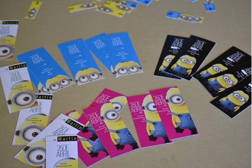 tarjetas personalizadas minions y más