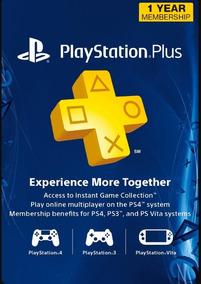 Tarjetas Playstation Plus 12 Meses Gift Card Usa