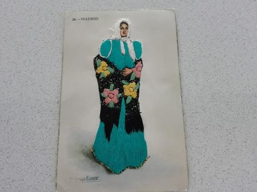 tarjetas postales antiguas bordadas españolas precio por c/u