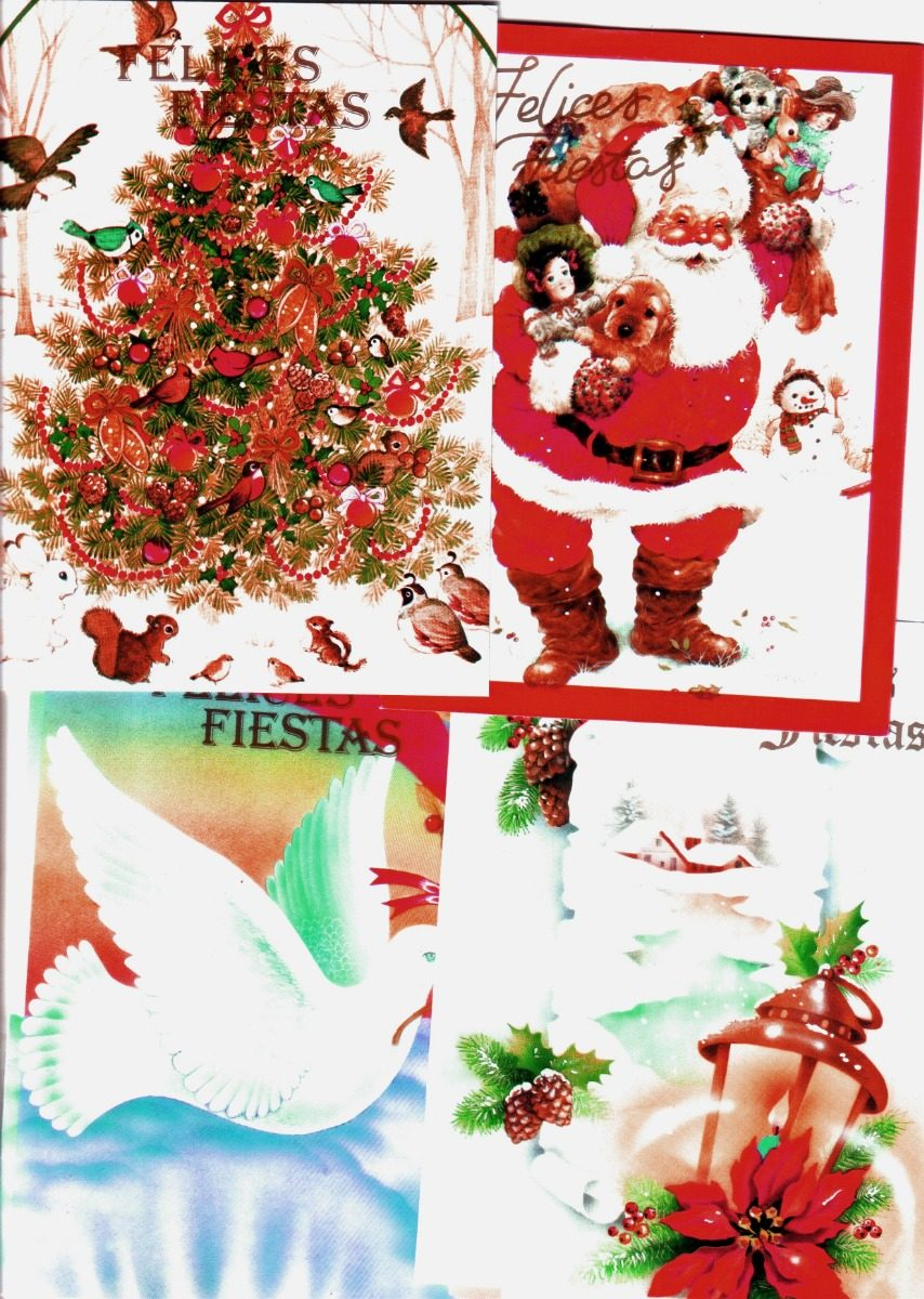 Tarjetas Postales De Navidad Motivos 5 115x155 Cm Son 11 180 - Motivos-navidad
