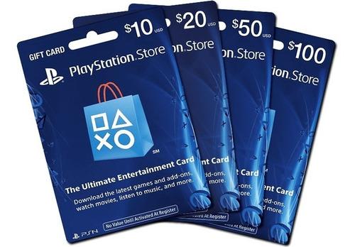 tarjetas prepago playstation network card usa psn 50