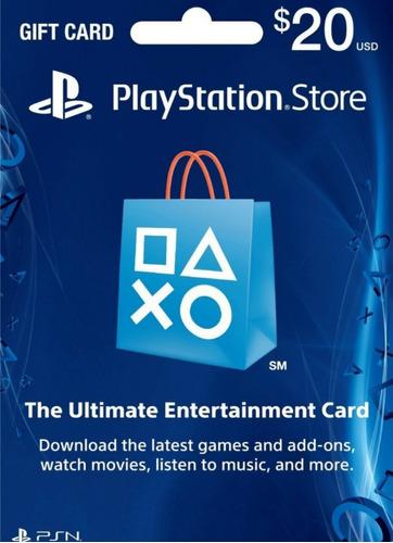 tarjetas psn gift card play usa    $ 10 $ 20 $ 25 $ 50 $ 100