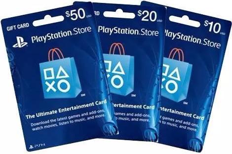 tarjetas psn playstation card plus usa $10$ 20 $50