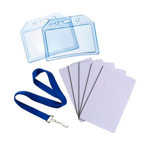 tarjetas pvc, cintas poliéster, fundas. gafete personalizado