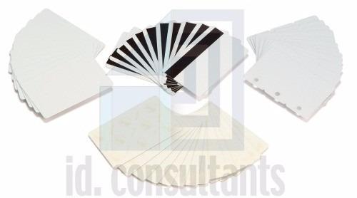 tarjetas pvc de identificacción zebra/fargo 100 unides