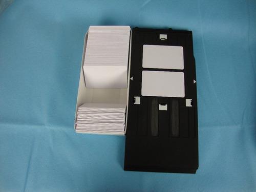 tarjetas pvcx50 en blanco fotocheck inyeccion epson/canon