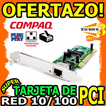 Wow Tarjeta De Red Pci 10/100 Lan Internet Rj45 Ethernet Pc