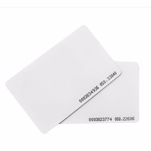 tarjetas rfid 125 khz numeradas proximidad acceso fina slim