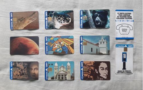 tarjetas telefónicas cantv 500 bs. 1994 y 1995