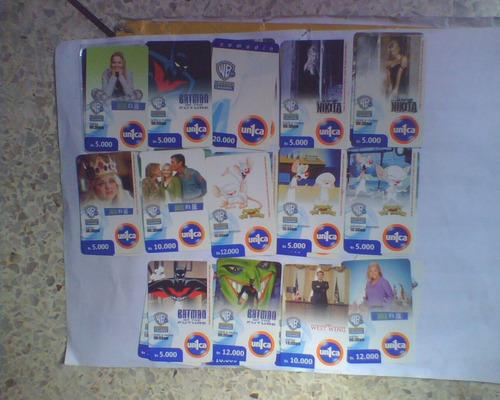 tarjetas telefonicas usadas de unicas whaner channel