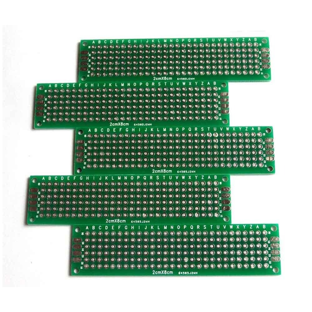 Circuito X : Tarjetas universales de circuito pcb de doble cara 2cm x 8 c