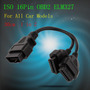 Elm327 Cable De Extensión Adaptador Obd2 16pin Macho A Dobl